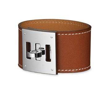 Hermes Fauve Barenia Kelly Dog Bracelet