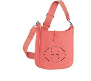 Hermes Flamingo Evelyne III Bag