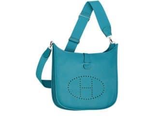 Hermes Izmir Blue Evelyne III Bag