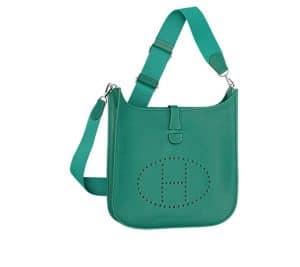 Hermes Malachite Green Evelyne III Bag
