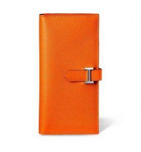 Hermes Orange Bearn Wallet