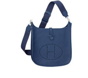 Hermes Sapphire Blue Evelyne III Bag