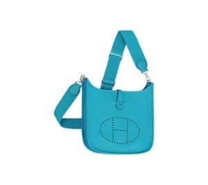 Hermes Turquoise Evelyne III Bag