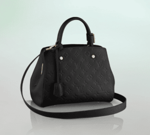 Louis Vuitton Black Monogram Empreinte Montaigne BB Bag