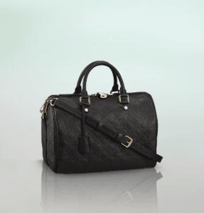Louis Vuitton Black Monogram Empreinte Speedy Bandouliere 30 Bag