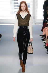 Louis Vuitton Black Patent Leather Pants 2 - Fall 2014 Runway