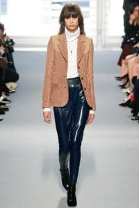 Louis Vuitton Blue Patent Leather Pants - Fall 2014 Runway