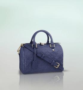 Louis Vuitton Celeste Monogram Empreinte Speedy Bandouliere 25 Bag