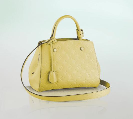 1860d29e610e Louis Vuitton Citrine Monogram Empreinte Montaigne BB Bag