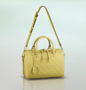 Louis Vuitton Citrine Monogram Empreinte Speedy Bandouliere 25 Bag