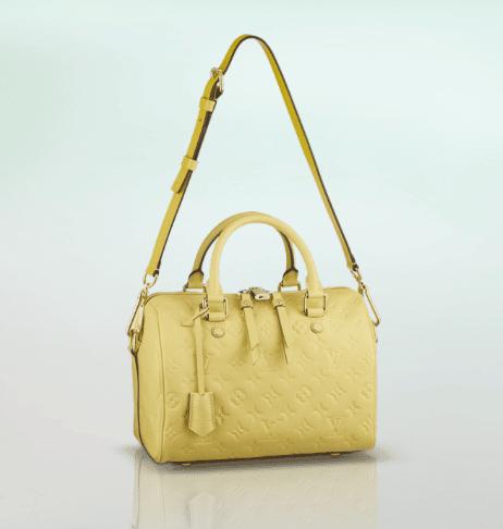 Louis Vuitton Citrine Monogram Empreinte Speedy Bandouliere 25 Bag. Citrine c83adff9976de