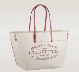 Louis Vuitton Corail Pink Cabas Canvas Bag - Articles De Voyage