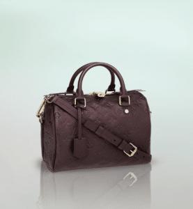 Louis Vuitton Grenat Monogram Empreinte Speedy Bandouliere 25 Bag