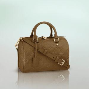 Louis Vuitton Havane Monogram Empreinte Speedy Bandouliere 30 Bag