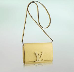 Louis Vuitton Jaune Pale Epi Louise PM Bag