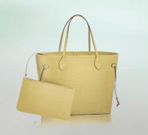 Louis Vuitton Jaune Pale Epi Neverfull MM Bag