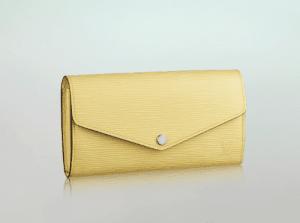 Louis Vuitton Jaune Pale Sarah Wallet