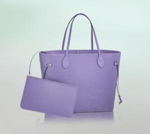 Louis Vuitton Lilas Epi Neverfull MM Bag
