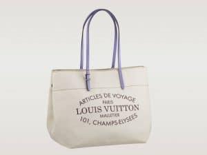 Louis Vuitton Lilas Purple Cabas Canvas Bag - Articles De Voyage