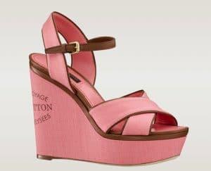 Louis Vuitton Pink Corail Sunlight Sandal - Articles De Voyage