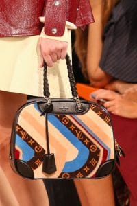 Louis Vuitton Printed Deauville Bag with Chain Handles - Fall 2014 Runway