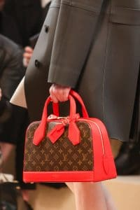 Louis Vuitton Red Monogram Canvas Dome Bag - Fall 2014 Runway