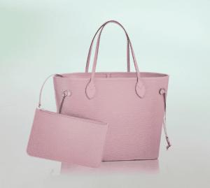 Louis Vuitton Rose Clair Epi Neverfull MM Bag