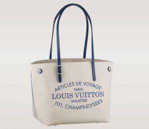 Louis Vuitton Saphir Blue PM Cabas Canvas Bag - Articles De Voyage