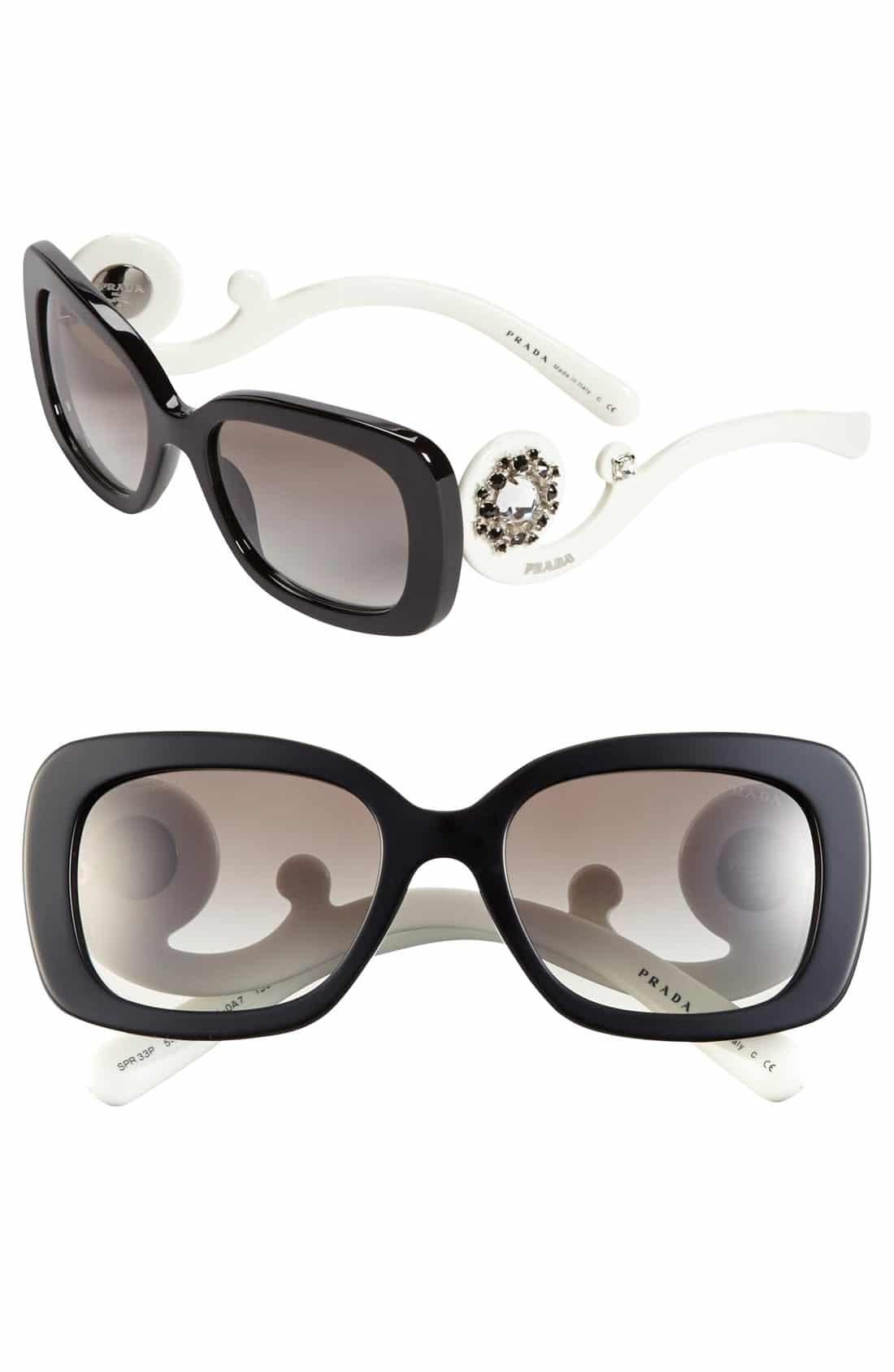 Prada Minimal Baroque Curl Frame Sunglasses Reference ...
