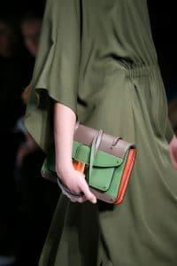 Valentino Beige/Green Flap Bag - Fall 2014 Runway