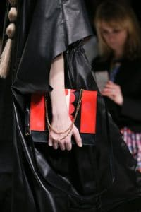 Valentino Black/Red Flap Bag - Fall 2014 Runway