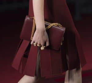 Valentino Maroon Flap Bag - Collection Shanghai 2013
