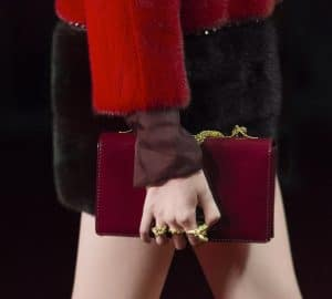 Valentino Maroon Patent Flap Bag - Collection Shanghai 2013