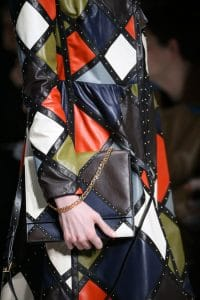 Valentino Multicolor Studded Flap Bag - Fall 2014 Runway
