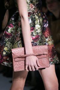 Valentino Pink Ostrich Clutch Bag - Fall 2014 Runway