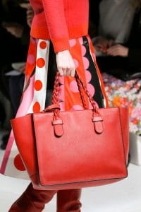 Valentino Red Braided Handle Tote Bag - Fall 2014 Runway