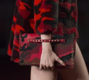 Valentino Red Camo Print Rockstud Clutch Bag - Collection Shanghai 2013