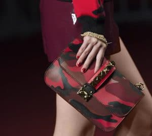 Valentino Red Camo Print Rockstud Flap Bag - Collection Shanghai 2013