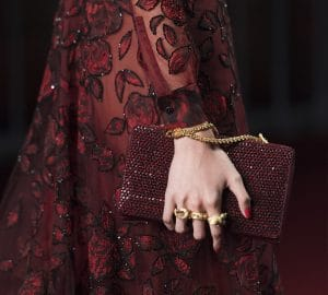 Valentino Red Embellished Flap Bag - Collection Shanghai 2013