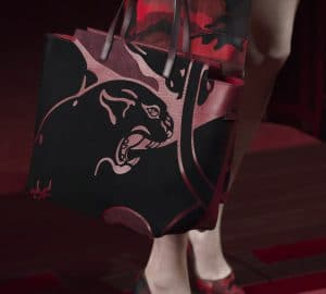 Valentino Red/Black Animal Print Tote Bag - Collection Shanghai 2013