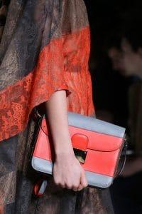 Valentino Red/Grey Flap Bag - Fall 2014 Runway