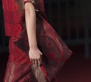 Valentino Red/Maroon Animal Print Clutch Bag - Collection Shanghai 2013