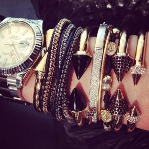 Vita Fede Bracelets and Rolex Watch