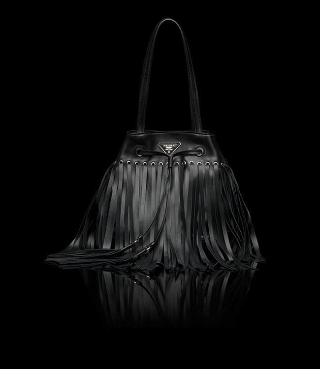 4e21239c636e Prada 'Bucket' Bag in Fringe or Studs Reference Guide | Spotted Fashion