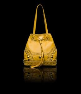 Prada Sun Studded Bucket Bag