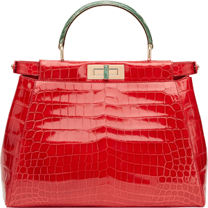 Fendi Red Croc Bag by Jerry Hall