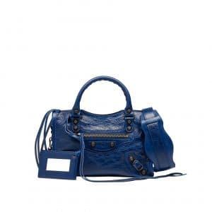 Balenciag Blue Classic Mini City Bag