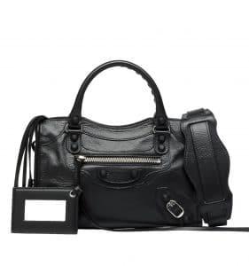 Balenciaga Black Classic Mini City Holiday Bag