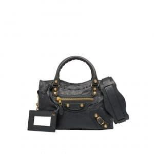 Balenciaga Gray Giant 12 Gold Mini City Bag
