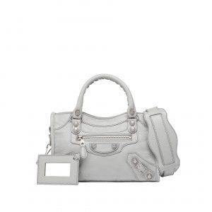 Balenciaga Gris Glace Giant 12 Silver Mini City Bag